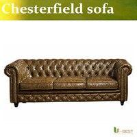 U-BEST Vintage In Pelle Divano Chesterfield Divano 3 Posti, moder hotel room divano appartamento, la villa divano