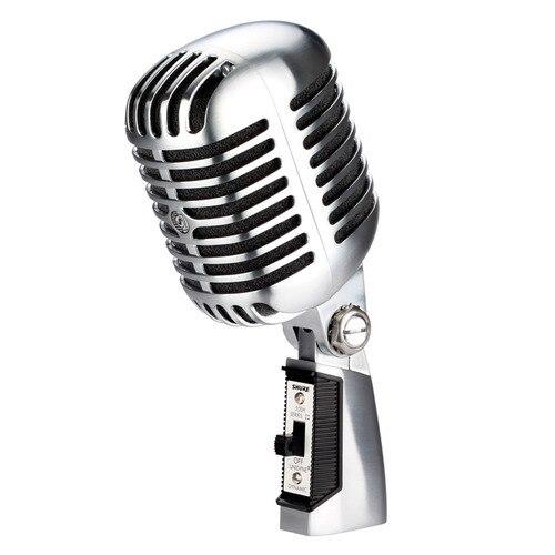 Классический Ностальгический Микрофон 55 sh II, профессиональный динамический проводной микрофон с переключателем, 55SH