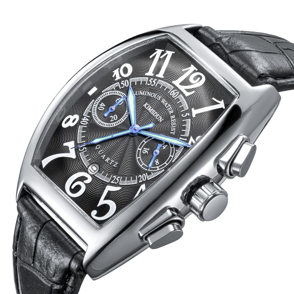 Waterproof Quartz Leather Sport Wrist Clock Male Relojes Hombre Horloge