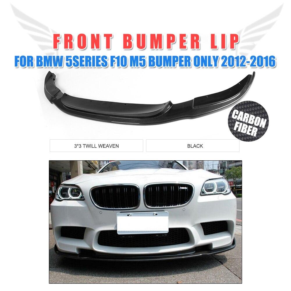 Fibre de carbone avant pare-chocs menton lèvre Spoiler pour BMW 5 série F10 M5 pare-chocs seulement 2012-2016 pièces de réglage de voiture