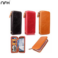 NFH Genuine Leather Women Wallet Case For IPhone X 6 6s 7 8 Plus Luxury Phone