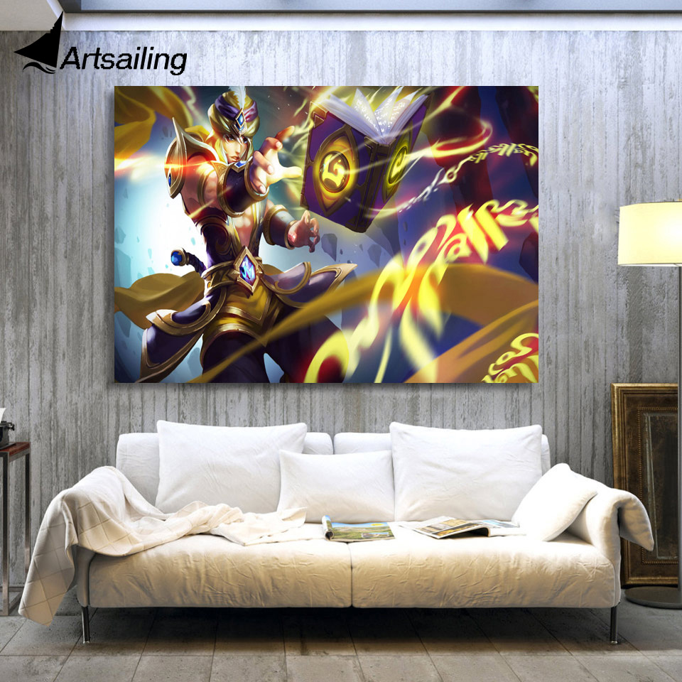 Kings Home Decor: 1 Piece Canvas Art Canvas Painting Video Game King Of