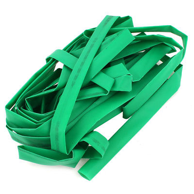 12mm Dia Polyolefin Heat Shrinkable Tube Shrink Tubing Wire Wrap 10M 33Ft Green 1mm dia heat shrinkable tube shrink tubing red 20m