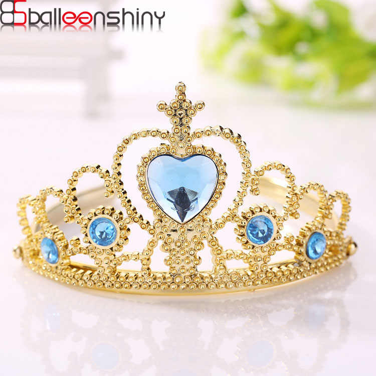 BalleenShiny Baby Girls Frozen Crown Princesses Accessories Crystal Diamond Tiara Hoop Headband Hair Bands Baby Gifts