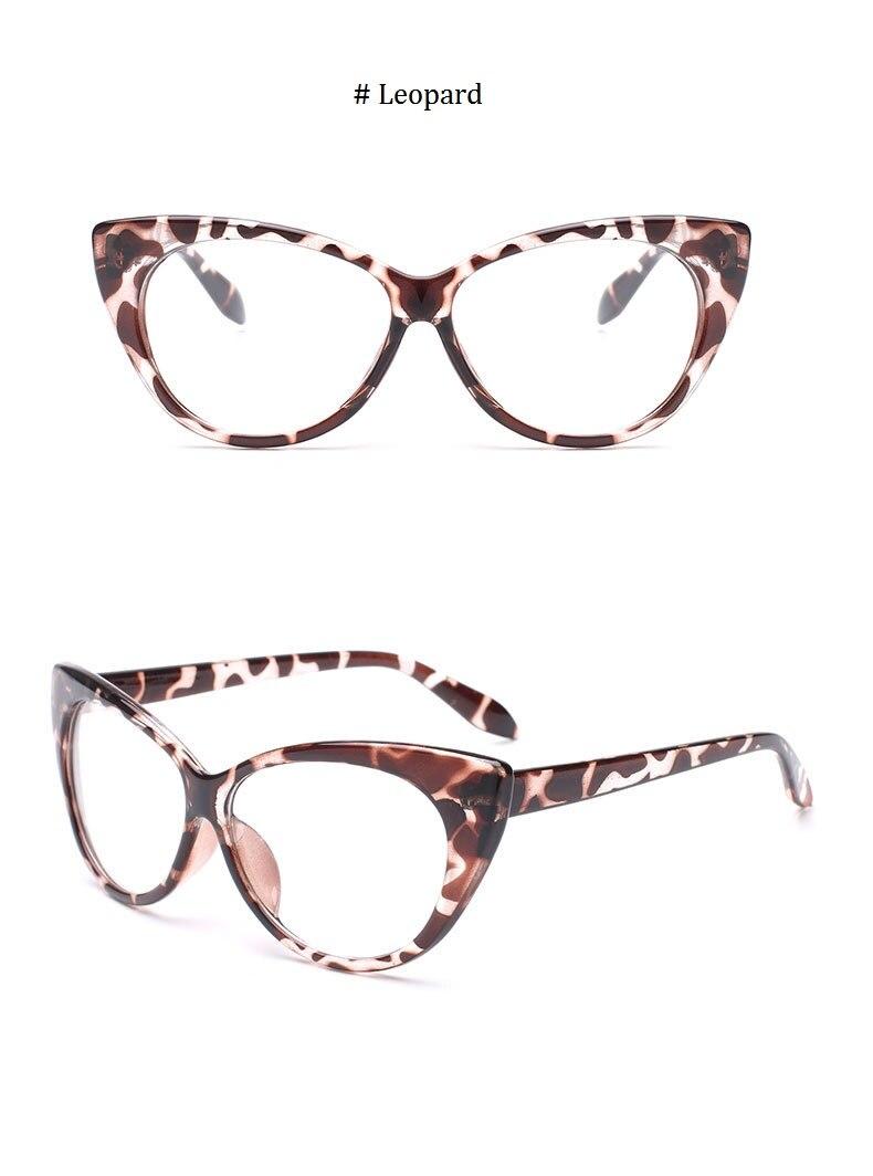 aed80a004bf16 2017 New Sexy Olho de Gato Vidros Ópticos Mulheres Óculos Marca ...