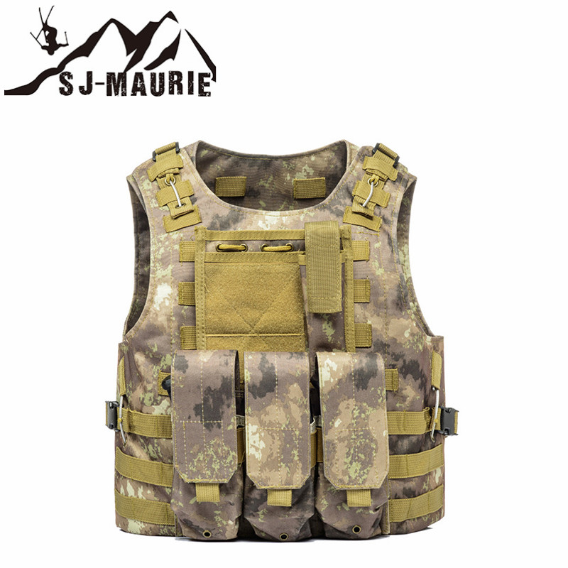 Hunting Vest Outdoor Clothing Assault Plate Carrier Chest Rig Pouch Airsoft Military Tactical Vest 9 Colors