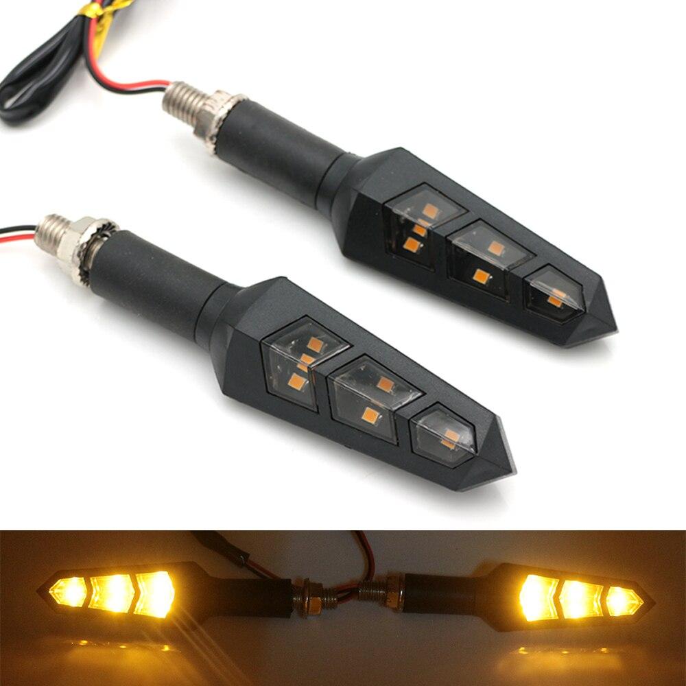 ACZ 1Pair Motorcycle Turn Signals Light LED Flowing Water Blinker Motorbike Flashing Lights Front/Rear Indicators Lamp Mayitr