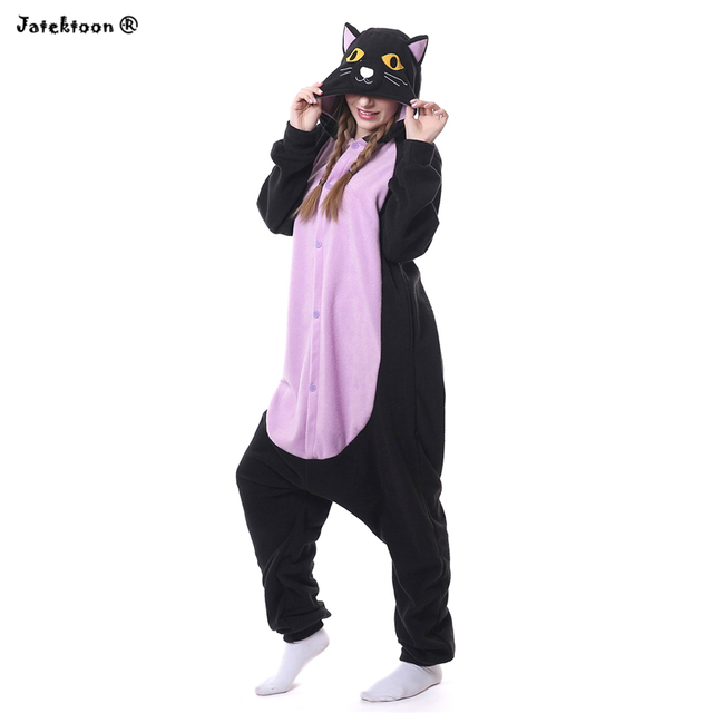 13ed68c57f Hot 2017 New Adult Animal Onesie The Midnight Spooky Black Cat Sleepwear  Cosplay Costume Pajamas for Sale in Stock Hot Sell