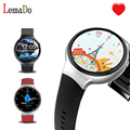 2017 Лучшие часы Lemado I4 android 5.1 OS Smart Watch Bluetooth 3 Г wi-fi smartWatch для iPhone IOS android huawei samsung телефон