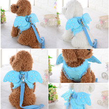 Cute Angel Wing Princess Pet Dog Harness Leashes Puppy Pearl Accessories Adjustable Leashes Size S-L For Small Dogs