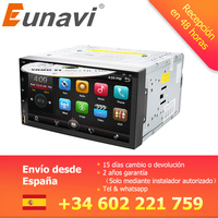 Eunavi Octa Core 2din android 8.1 car dvd player universal GPS Navigation audio stereo radio with WIFI+bluetooth+camera+usb
