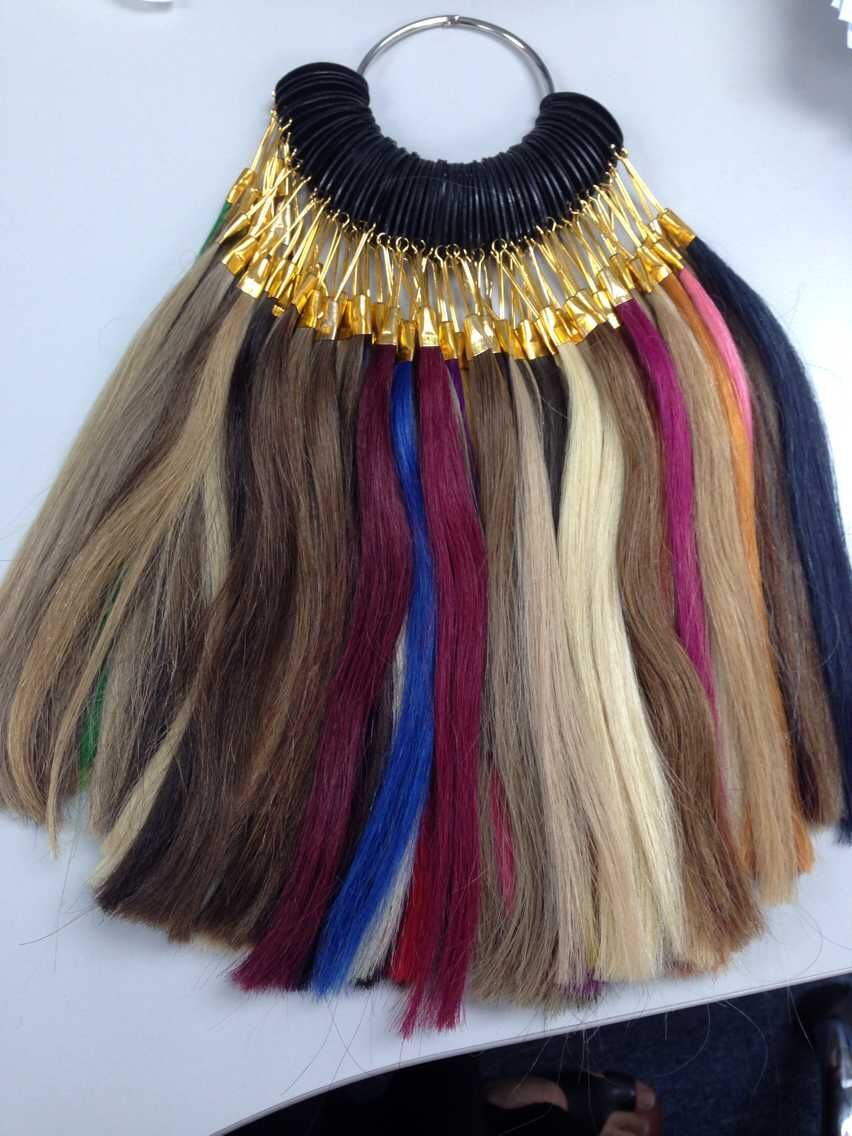 Neitsi Human Hair 85 Color Rings/Color Charts For Human Hair Extensions & Salon Hair Dyeing Sample Can Be Dyed Fast Shipping straight clip in human hair extensions natural black color 100% human hair 9pcs clip in hair extension 12 26inch instock