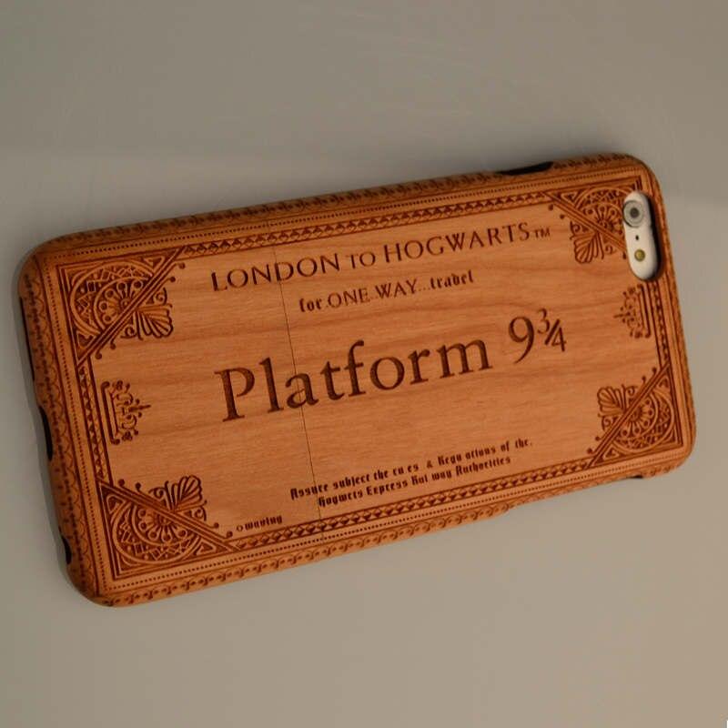 Harry Potter Platform9 3 4 fit iphone 7 6s Plus 6 6 plus Natural Wooden Wood