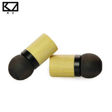 KZ ED7 Bamboo Wood Earphones with Microphone 3.5mm HD HiFi In Ear Monitor Bass Stereo Earbuds for Phone