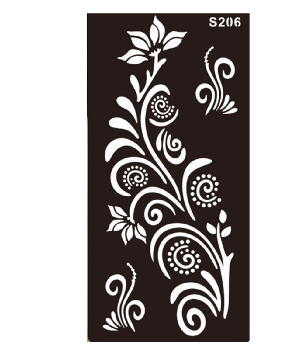 aliexpresscom buy temporary tatoos templates tattoo stencils boys girls mehndi indian henna hand tattoo stencil glitter airbrush lace from reliable lace - Stencils For Boys