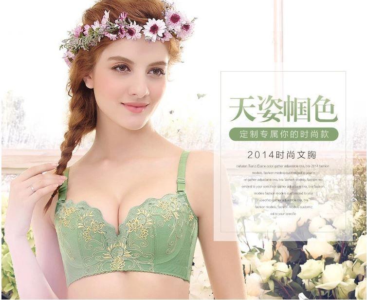 5ba7490ab27 Free shipping 2014 sexy cute full cup underwear bra set good gift all size  DD E F 32 34 36 38