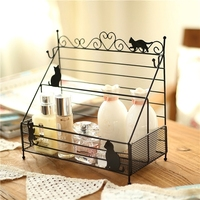 Old style iron groceries clapboard girls cosmetics desktop storage rack