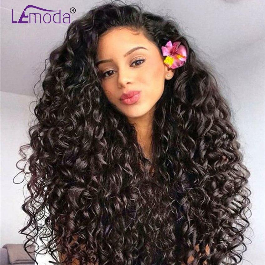 LeModa D'eau Malaisien perruques ondulées Avant de Lacet cheveux humains Perruques Pour Les Femmes Noires Pré Pincées Avec Bébé Cheveux Perruque cheveux remy 150 Densité