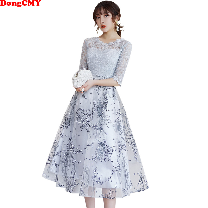 DongCMY Short Lace   Prom     Dresses   Elegant New Fashion Party   Dress