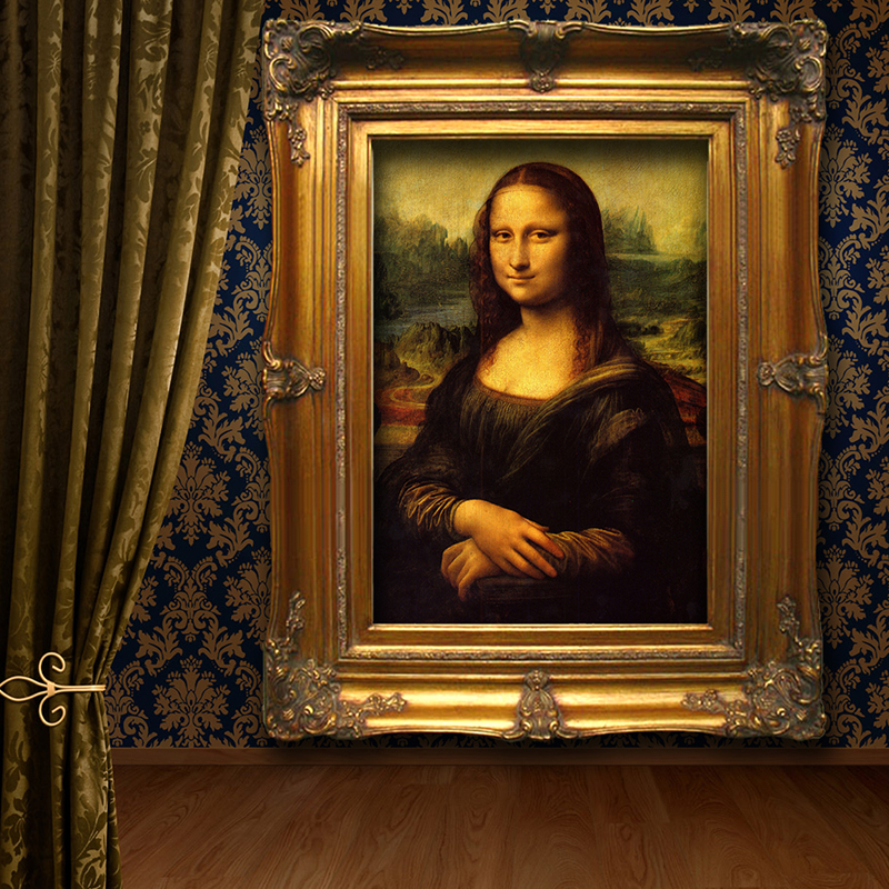 Hand Painted Art Abstract Oil Painting Leonardo Da Vinci Mona Lisa