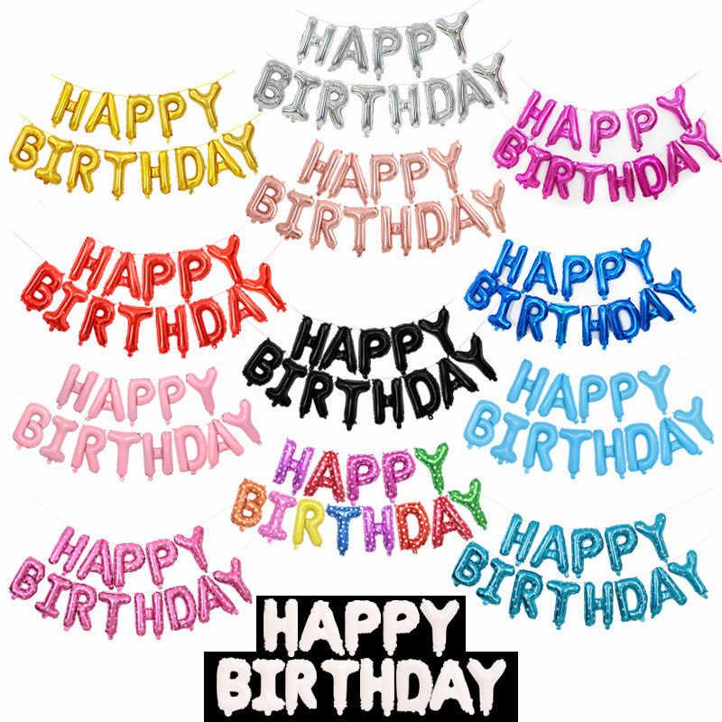 16 Polegada carta balões do chuveiro do bebê menino hélio folha ballon ouro prata rosa vermelho azul dígitos globos festa de aniversário casamento balão