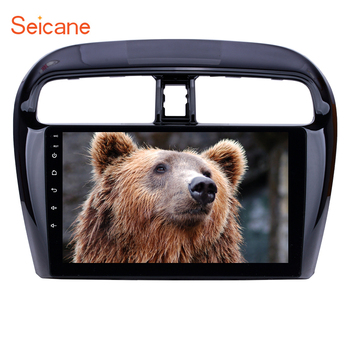 Seicane Android 8.1 2DIN 9inch Car Head Unit Radio Audio GPS Multimedia Player For Mitsubishi Mirage 2012 2013 2014 2015 2016 image