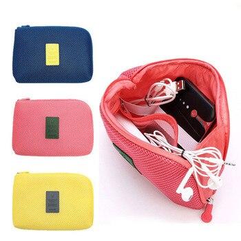 Simple Shockproof Travel Cosmetic Storage Bag Makeup Cosmetic Organizer Case Digital Orgnizer Case Bag фото