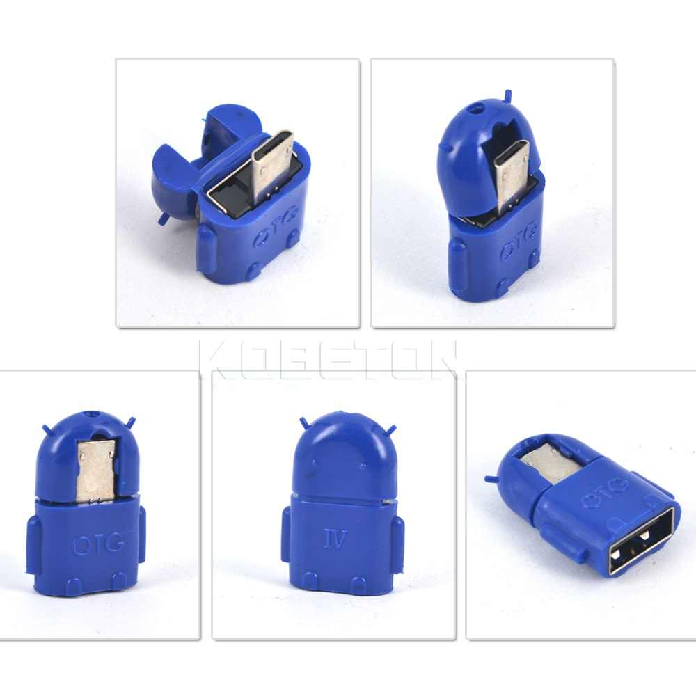 Kebidumei 10pcs Micro USB to USB OTG Adapter Male to USB 2.0 Micro Adapter Converter for Samsung Xiaomi LG Huawei Android Mobile
