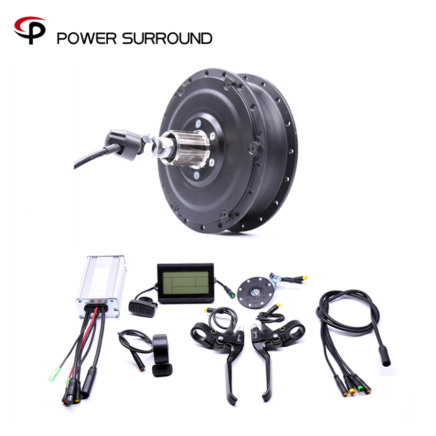 Waterproof 48v500w Shengyi Dgw22c Rear Cassette Electric Bike Conversion Kit Brushless Hub Motors With Ebike System eunorau 48v500w electric bicycle rear cassette hub motor 20 26 28 rim wheel ebike motor conversion kit
