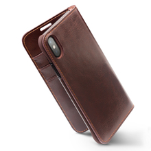 QIALINO Handmade Genuine Leather Wallet Case for iPhone X