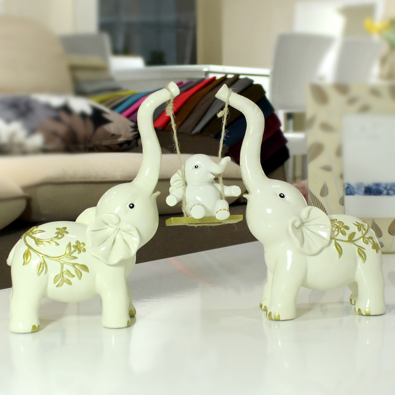 Aliexpress Com Buy Creative Family Of Three Small Elephant Elephant Ornaments Wedding Gift Home Decorations Living Room Tv Cabinet Cabinet From Reliable