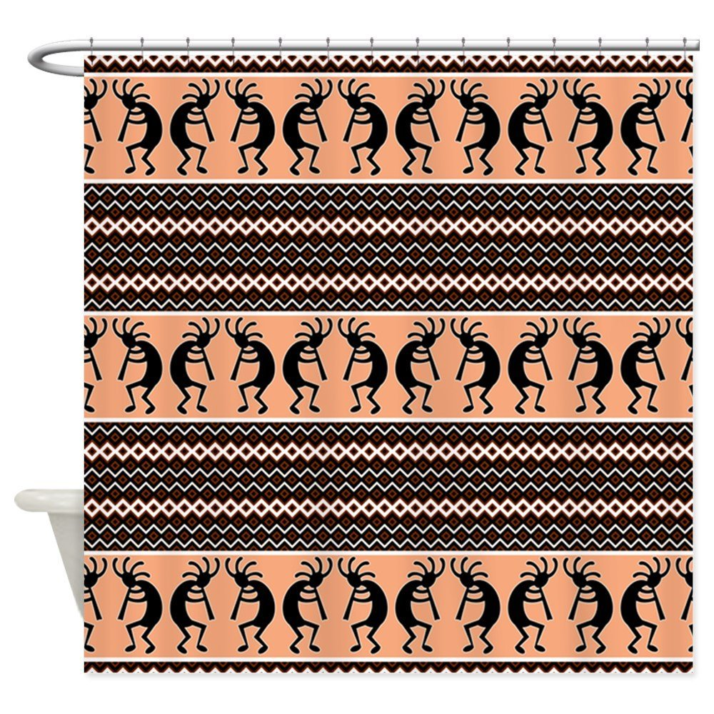 Southwest Kokopelli - Decorative Fabric Shower Curtain ()