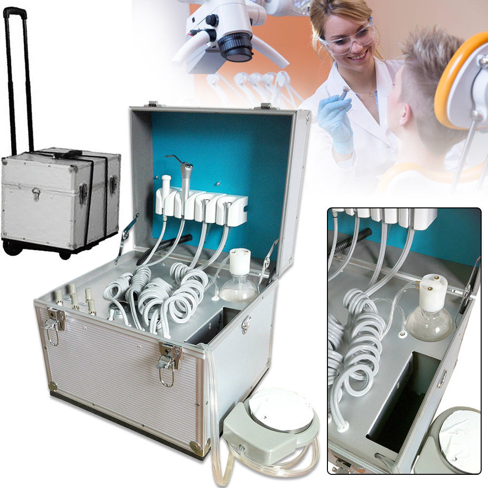 Portable Dental Lab Portable Weak Turbine Unit, Air Compressor,Air Feed System,Syringe Sets printio joker