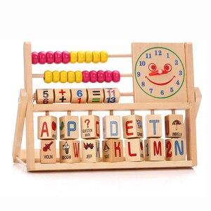 Математические Игрушки для детей, деревянные игрушки, обучающий инструмент с цифрами, подсчет Abacus, обучающий блок, игрушка для детей, подаро...