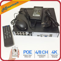 H.265 8Ch 5MP/4Ch 5MP PoE Network Video Recorder PoE NVR 4/8Ch For HD 5MP/1080P