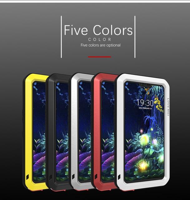ل LG V50 الحب مي العلامة التجارية حقيبة لجهاز LG V50 ThinQ مكافحة طرقت معدن الألومنيوم وعرة مع شحن المقسى طبقة غوريلا جلاس حالة غطاء