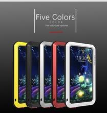 Voor LG V50 Liefde Mei brand case Voor LG V50 ThinQ anti klopte Metalen Aluminium Robuuste met gratis Gehard gorilla Glas Case Cover