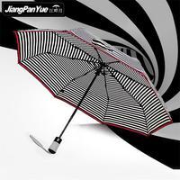 İyi seçim tam otomatik summer yağmur gün şemsiye amerika bayrağı parapluie peacock çizgili güneş resimleri şemsiye