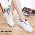 In 2017 han edition female fashion leisure canvas shoes white shoe students comfortable joker for women's shoes