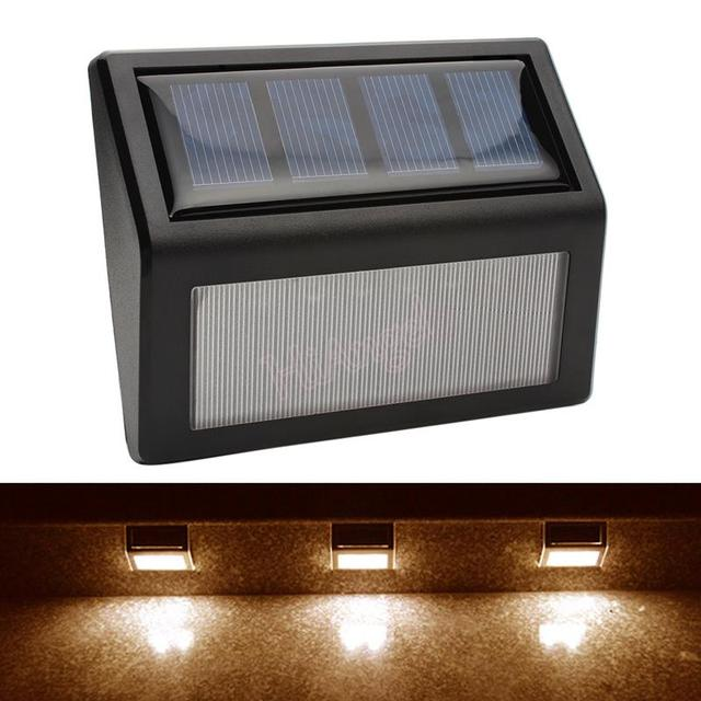 IP55 LED Solar Lights Wall Lamp Waterproof Garden Light Outdoor Landscape  Lawn Lamp 6 LED Fence