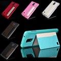 Мода PU Кожа Стенд Case Для Samsung Galaxy Note 4 N9100 Роскошный Сотовый Телефон Случаях Задняя Крышка С Карты Держатель