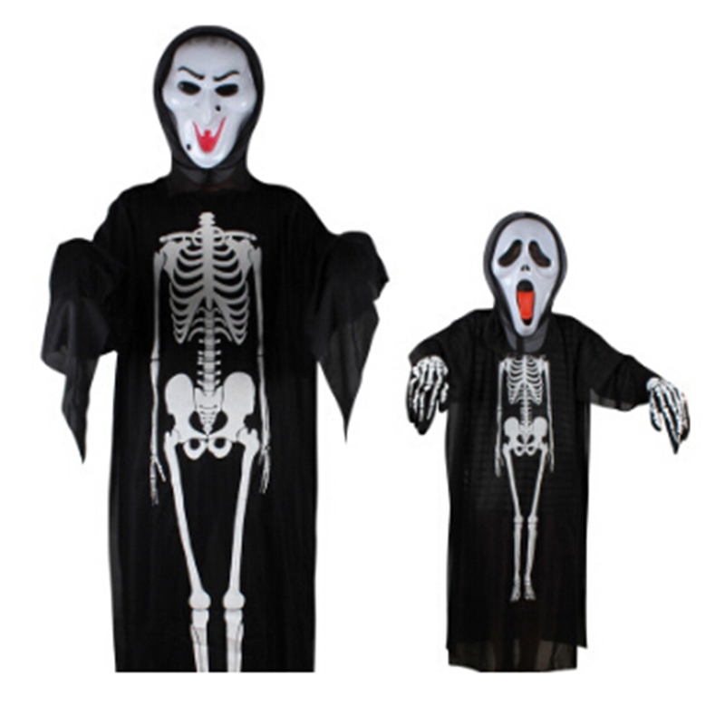 demon scary costumes for kids adults unisex halloween costumes 6 kinds masks gloves sets - Halloween Costumes Prices