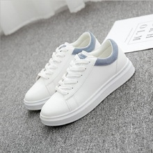 цена на 2019 Spring Women Casual Shoes  Autumn Women Sneakers Fashion Breathable PU Leather Platform White Women Shoes Soft Footwears