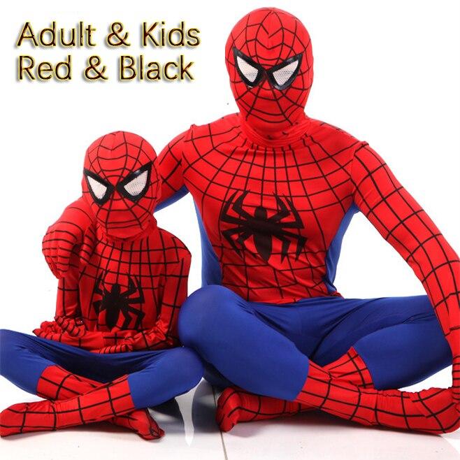 Personalizado o incrível homem aranha traje crianças adulto elastano adulto 3d trajes cosplay roupas para um menino incrível spiderman