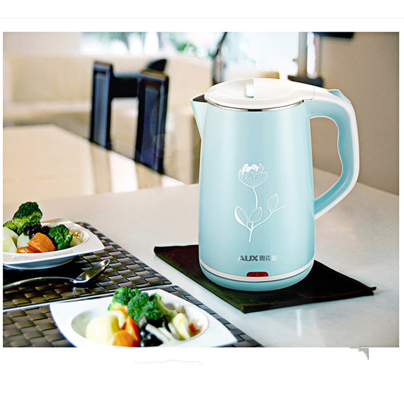 220V 1500W Household 1.8L Electric Kettle 3 Layer Anti-scald Kettle Food Grade 304 Stainless Steel Inner Fast Heating EU/AU/UK цена