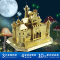 MU 3D Metal Puzzle Sleeping Beauty Castle Fantasy Castle Building Model FC-G01 DIY 3D Laser Cut  Assemble Toys For Audit