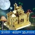 MU Metal 3D Puzzle Bela Adormecida Castelo FC-G01 Fantasia Castelo Modelo de Construção DIY 3D Montar Brinquedos Para Auditoria de Corte A Laser