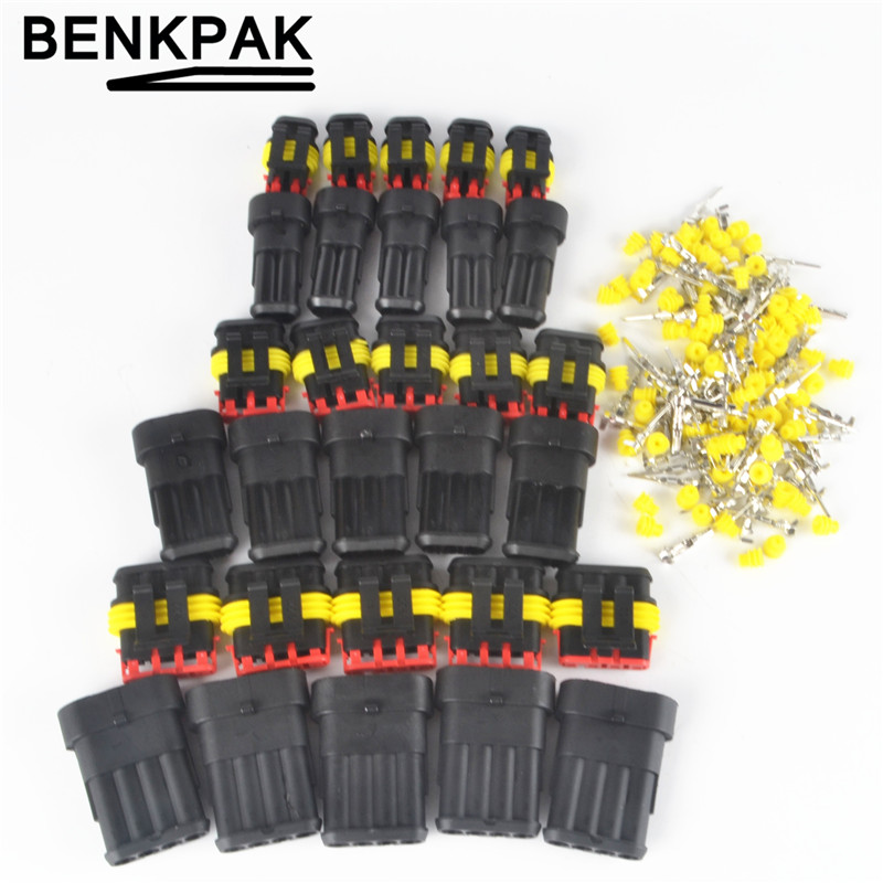 5set 234Pin Way Waterproof Electrical Wire Connector Plug