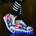 Cargador USB simulación Cesta enfant Led Light Up entrenadores tenis feminino led Kid Casual Boy & Girl Luminoso Zapatillas Brillantes zapato