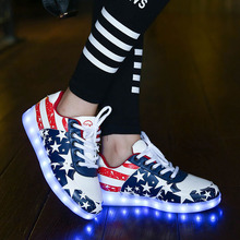 USB Charger tenis led feminino simulation Basket Led enfant font b Light b font Up trainers